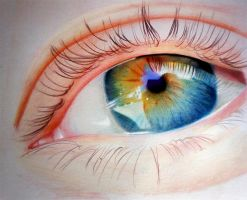 Eye - Colored pencils by f-a-d-i-l