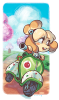 Isabelle Bookmark by curry23