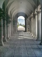 El Escorial, soportales by LordNeo27