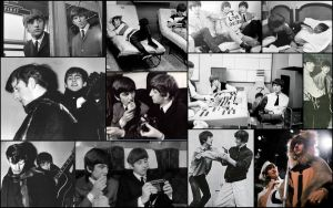 George x Ringo Wallpaper by superfluidmessdreams