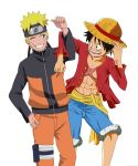naruto and luffy by ZefiMankai
