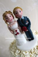Wedding couple by zoesfancycakes