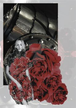 War of Roses Inspired Fashion Illustration. by C-Donald-Amos-F