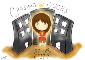 Chasing Ducks in the City by emilialight