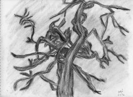 Naked Dancing Tree Charcoal by lennerose