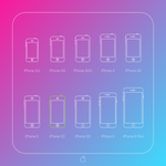 All iPhones silhouettes outline icon set. For free by vertus-design-being