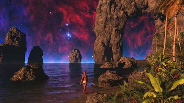 Along the Shores of the Cosmic Ocean by uxmal750ad