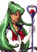 Sailor Pluto art card by TwinEnigma