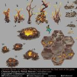 Codemancer Volcanic biome deco by Puillustrated
