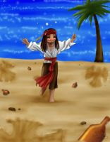 Sand Angels - Jack Sparrow by yamiyugi