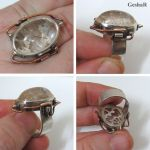 Steampunk Ring with Rutilated Quartz by GeshaR