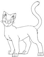 Cat Lineart by sailorharmony2000