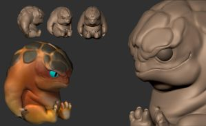 Baby Krogan Splitplate by TiJiL