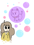 Puppycat and bee by Chesiire-Strawberii