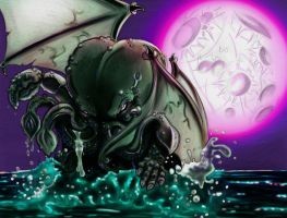 Cthulu rising color by chapstyle