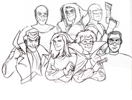 DCAU Rogues sketch by The-French-Belphegor