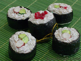 Sushi Ornaments-crab maki- by MorganCrone