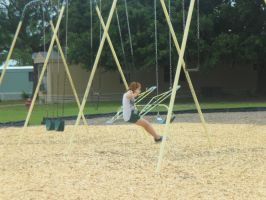 Day 153: Swings are Awesome by Caedy