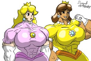 Mighty Mushroom Maidens by ArchangelDreadnought