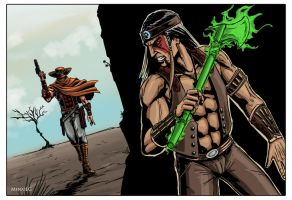 Mortal Kombat: Erron Black vs Nightwolf by MenasLG