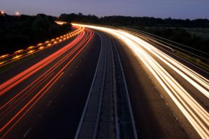 Motorway at Night - 2 by fruitycube