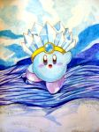 Ice Kirby by AzureShinobi