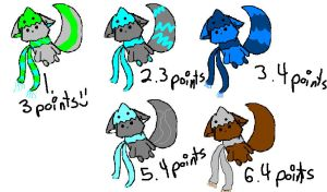 NEW ADOPTABLES :D by Crazynowell