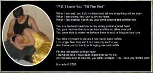 P.S. I Love You 'Till The End by VisualPoetress