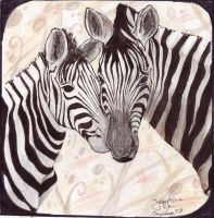 Zebra Love by MirielDesign