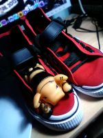 Shoes and heavy pig by Pompelina