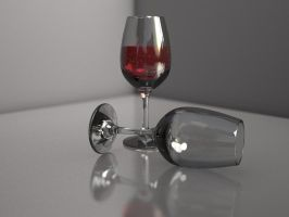 Wine Glass TEST C4D R13 by MChChovanec