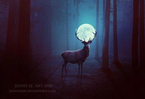 Deer of Moon by JennyLe88