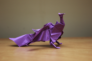 Origami Peacock 1.1 by nekomancer123