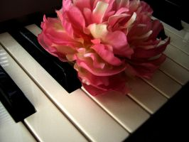 Piano And Flower by Pinkfirefly135