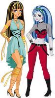 Cleo de Nile y Ghoulia Yelps version anime by sparks220stars