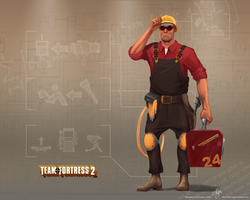 TF2 Engie wallpaper ver.2 by Klashmyag