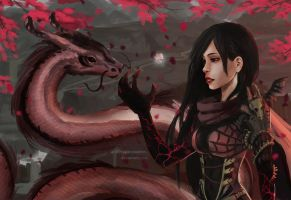 Sakura Dragon by fragile-creation