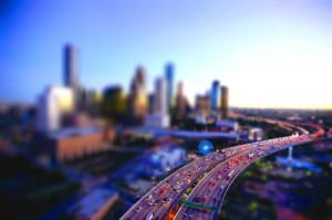 Miniature Downtown Houston by Mc-Squiggle