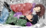 Obito and Rin: Winter by Lesya7