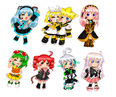 Vocaloids!  So many Vocaloids! by purplemagechan