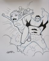 Hulk and Molly Commission by stratosmacca