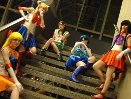 Pretty warriors in sailor suit by Tionniel