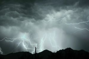 Composite Of Lightning shots 7-27-2014 by RayM0506