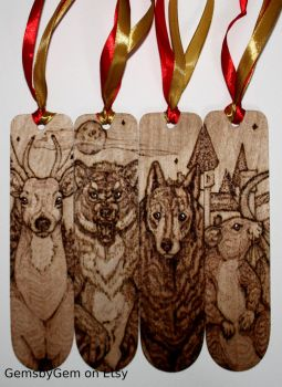 Harry Potter Marauders Bookmarks - Woodburning by BumbleBeeFairy