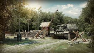 Tank in forest by pavaks