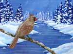 Cardinal in Winter by Arquerite