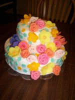 Flower Cake by annasaphiree