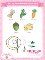 Fuzzy Favorite Charms Return 50% Off! by Mirelmture