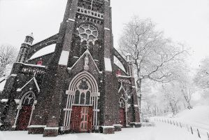 Wintertime church by BenTich