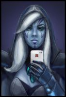 DotA 2, Traxex / Self-portrait by DariaDesign
